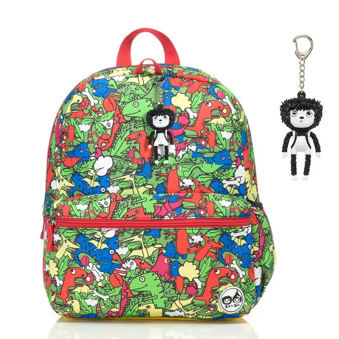 Dino Multi Colours Junior batoh ZIP a ZOE Babymel