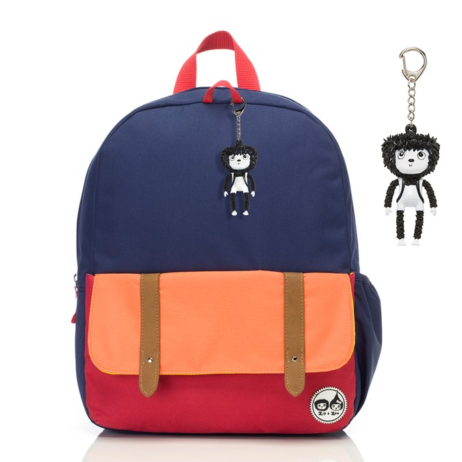 Navy Colour Block Junior batoh ZIP a ZOE Babymel